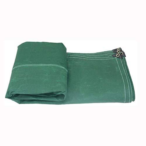 NYKK Lonas/Cubierta de Lona Lona Impermeable, a Prueba de Polvo Impermeable Protector Solar Tela Impermeable, Verde Lona alquitranada (Size : 4 * 14M)