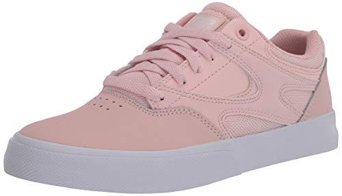 DC Women's Kalis Vulc Skate Shoe, Light Pink, 8.5