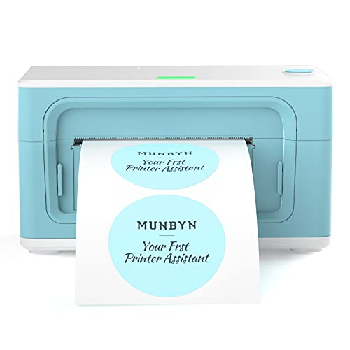 MUNBYN Thermal Label Printer, [Upgraded 2.0] 4×6 Direct Label Printer for Shipping Packages & Small Business, High-Speed 150mm/s, Compatible with USPS, UPS, FedEx, Shopify, Amazon, Ebay, etc (Green)