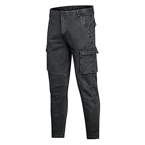 Hombres Cargo Sweypants Casual Jogger Militar Táctico Pantalones Hombres Ropa Deportiva Pantalones de harema al Aire Libre Color sólido Multi-Bolsillo (Color : NMGK8913Grey, Size : 38)