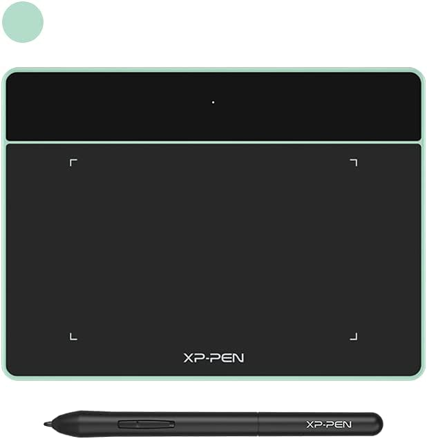 XP-PEN Deco Fun XS OSU Tablet Graphic Drawing Tablets 4x3 Inches Pen Tablet with Battery-Free Stylus (Green)