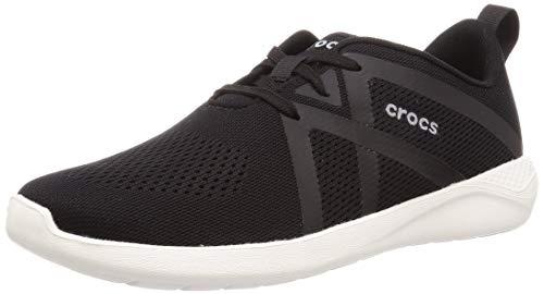Crocs Herren Literide Modform Lace M Freizeitschuhe und Sportbekleidung Man, Multicolor (Schwarz/Weiß), 43 EU