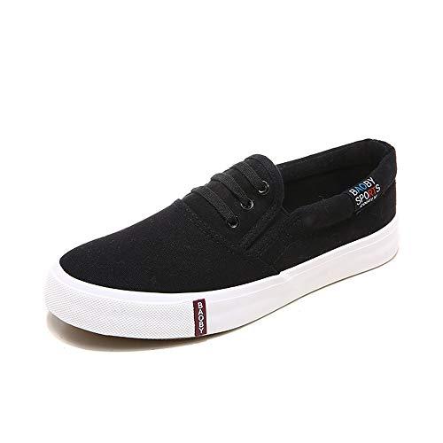 Damesschoenen van instapschoenen, klassieke casual espadrilles ademende sport- en buitenschoenen, studentenmodetrainers wandelschoenen Flats sneakers,Black,39 EU