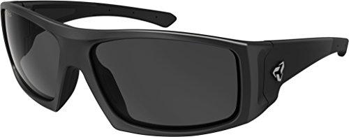 Ryders Eyewear Trapper Velo-Polar Anti-Fog Lens Sunglasses (BLACK MATTE / DK GREY LENS ANTI-FOG)