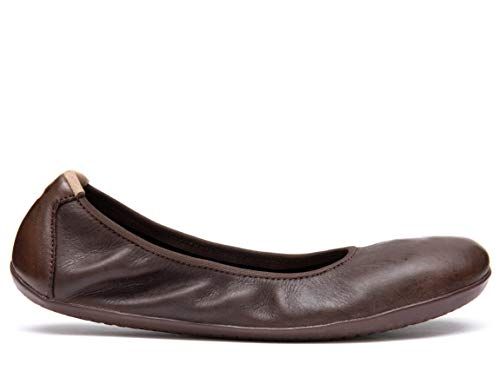 Vivobarefoot Jing Jing, Womens Wild Hide Leather Ballet Pump Flat Shoe Brown