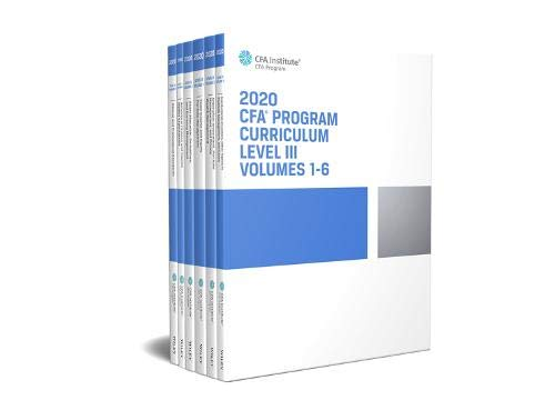 CFA Program Curriculum 2020 Level III, Volumes 1 - 6, Box Set