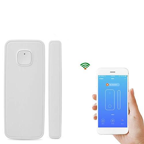 Alarma de Emergencia Antirrobo para Casa Sensor de Alarma WiFi de la Ventana y la Puerta para la Seguridad del Hogar Control Remoto Inalámbrico por App