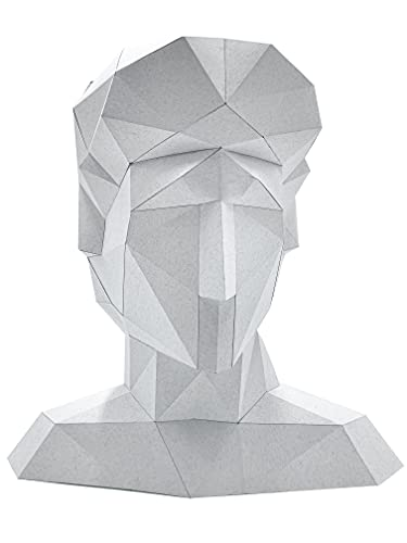 Oh Glam Home Kit DIY Busto de David Papercraft Kit Cartón 3D Escultura Origami 3D Puzzle 3D PRECORTADO