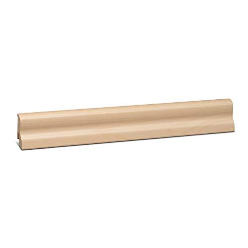 KGM Sockelleiste Marburger Profil – folierte MDF Fußbodenleiste Ahorn – Maße: 2500 x 20 x 40 mm – 1 Stück