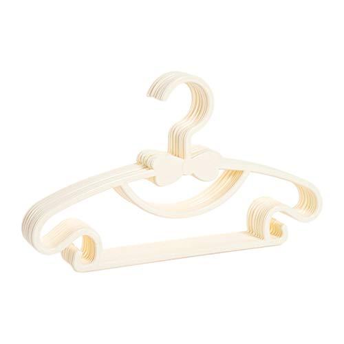 XWEM 10 / 20pcs Ropa para niños Racks portátiles Pantalla de plástico Perchas a Prueba de Viento Abrigos para niños Perchador Ropa de bebé Organizador,Blanco,10pcs
