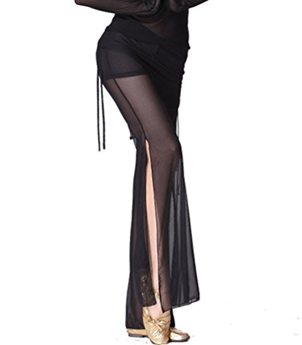 ZLTdream Women's Belly Dance Stretch Tulle Pants
