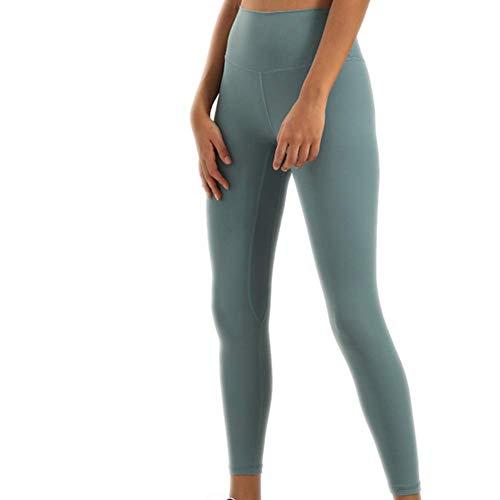 A/N Herbst- und Winterhosen für Frauen Doppelseitiges Schleifen Nackte Yogahosen Hüfte Hohe Taille Sport Fitness Neun-Punkt-Hosen