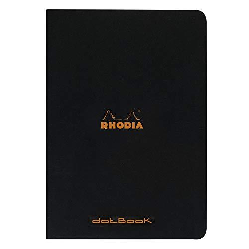 Rhodia 119166C Notizheft (dot grid, DIN A4, 21 x 29,7 cm, 48 Blatt) 1 Stück schwarz