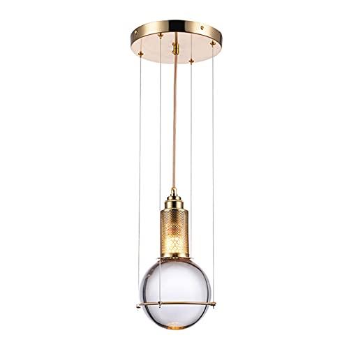 STAGE LIGHTING Lámpara de araña, mesa de comedor simple barra de recepción de la mesa de cristal Bola de cristal de la ventana de la cabeza de la cabeza de la cabeza de la cabeza [Clase de energía A++