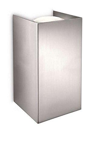 Philips 3301217PN myLiving Wandleuchte Gabardine, 2x50 W, Chrom, Metall, GU10, 8.5 x 8.30 x 15 cm