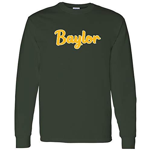 UGP Campus Apparel AL1240 - Baylor Bears Basic Script Long Sleeve - 3X-Large - Forest