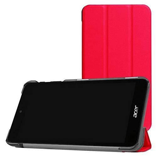 Case2go - Funda para Acer Iconia One 7 B1-780 (funda de tres pliegues), color rojo