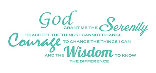 Serenity Prayer Wall Decal: Quotes Wall Decal. Made in The USA from Vinyl! This Serenity Prayer Wall Decal is Among Our Most Popular Inspirational Wall Decals! - Mint