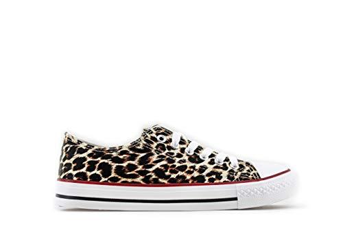 Modelisa - Zapatillas Baja Mujer (Leopardo, Numeric_41)