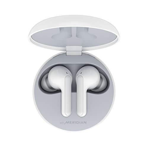LG Cuffie Bluetooth Wireless In Ear TONE Free FN6 White, Auricolari Bluetooth 5.0 Senza Fili Meridian Audio, Impermeabili, con Custodia da Ricarica, Comandi Touch, Doppio Microfono, per iOS Android PC