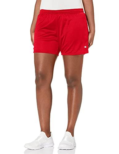 Champion Women's Mesh Short, Scarlet, Large
