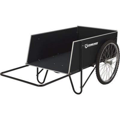 Strongway Garden Cart - 400-lb. Capacity, 14 Cu. Ft. 48in.L x 29in.W