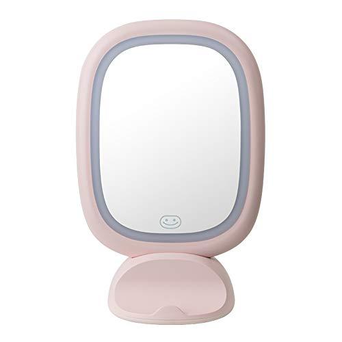 Mirror Maquillage Desktop A Mené La LumièRe avec Le Bureau De Miroir De LumièRe,Portable Dortoir Miroir Mural Dortoir Femelle,Miroir De Princesse Petit Miroir