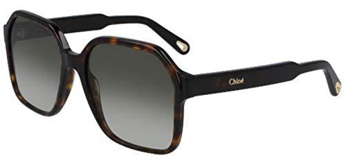 Chloé CE761S(219)-5617 Sun gafas, Tamaño de la montura: 56 mm, Tamaño de la puente: 17 mm, Tortose