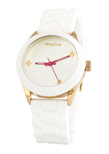Seductora Color Blanco analógico Reloj para Lady