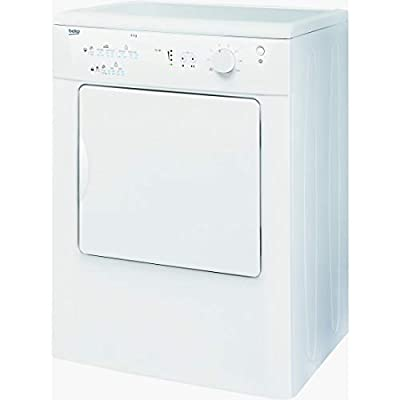 Beko DRVT71W Freestanding Front-Load Tumble Dryer - Class C - White -Load Capacity: 7kg - Vented Drying System - Right - 104 L