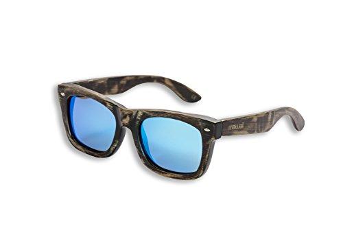 Mawaii Modell Waipuke Antik-Braun-Eisblau Polarized Lenses Fgv (Feel Good Vision) Inkl. Bambus-Box Und Mikrofaserbeutel Sonnenbrille, L