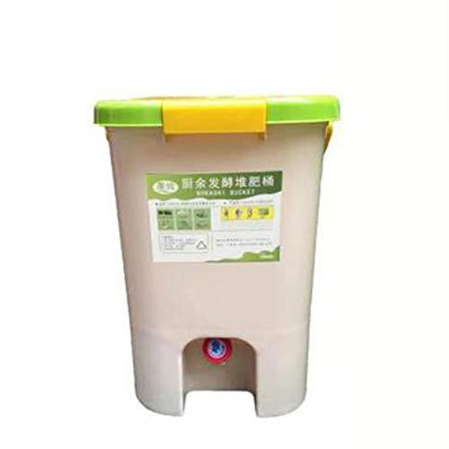 Compost De Cocina,barriles De Fermentación De Residuos De Cocina,barriles De Estiércol De Jardín Caseros,fertilizante Orgánico Two Small Buckets+250g Bacteria 23x18x24cm(9x7x9.4inch)