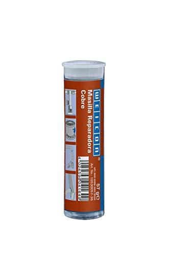 WEICON 10530057-36 Barra reparadora, Cobre, 57g, Pegamento de 2 Componentes, Resina epoxi, para reparación de tuberías y conductos, 57 g