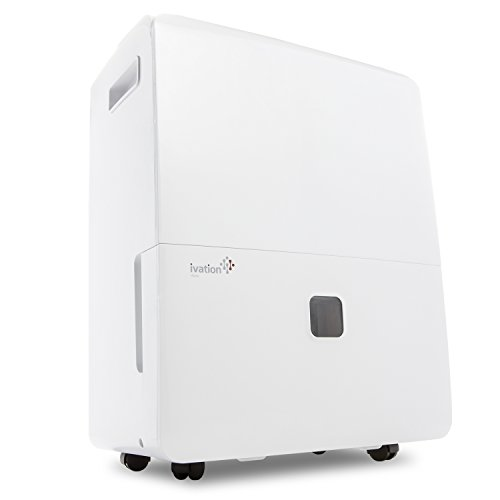 Ivation 6,000 Sq Ft Energy Star Dehumidifier with Pump - Large Capacity Compressor for Spaces Up To 4,500 Sq Ft, Includes Programmable Humidity, Hose Connector, Auto Shutoff / Restart