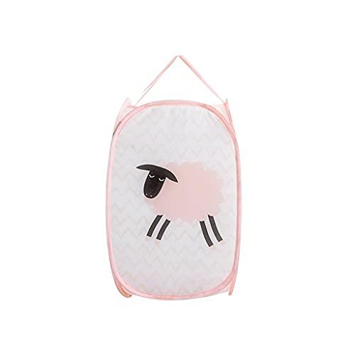 Cesta de almacenamiento pequeña Malla emergente canastas de lavandería plegable lavandería cesta con resistente marco de alambre de acero agrandado bolsillo de apertura con mangos duraderos para dormi
