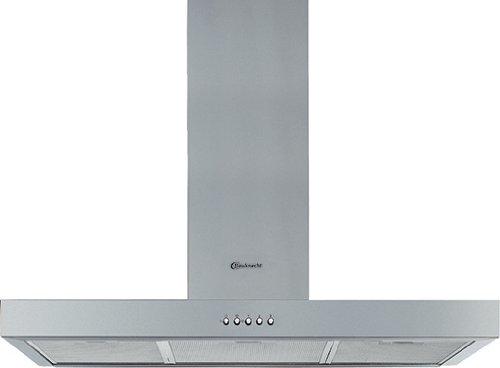 Bauknecht DDB 3690/2 IN Wandhaube/Breite: 89.8 cm/Edelstahl/Lüftermotor mit Doppelabsaugung/Optimale Ausleuchtung des Kochbereichs