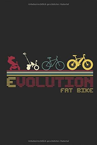 Fat Bike Evolution Retro: Notizbuch Fatbike Lustig MTB Beach Cruiser Fahrrad dicke fette Mountainbike Bergfahrrad Reifen Planen Notieren Rechenheft ... Tagebuch Geschenk für Fahrradfahrer Radfahrer