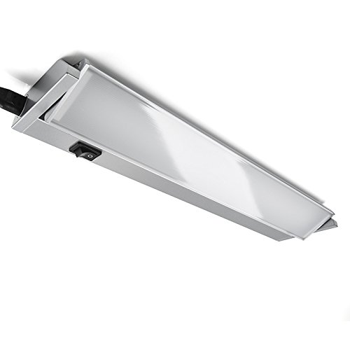 2er Set SO-TECH® LED Unterbauleuchte Alessia - schwenkbare Flächenleuchte mit Diffuser Scheibe, Schalter, Netz- und Verbindungskabel zum erweitern 15W / 910 mm