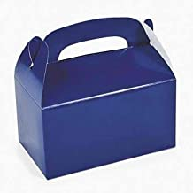 Fun Express Blue Party Favor Treat Boxes (24 Pack)