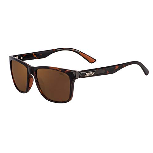 Berkley Ber003 Sunglasses Ber003 Polarized Fishing Sunglasses, Gloss Tortoise Frame/Brown