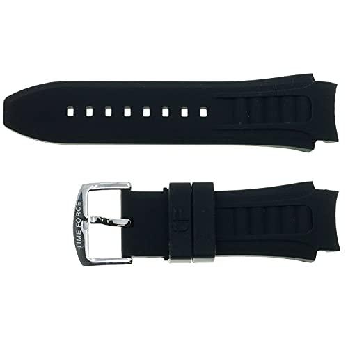 Correa de Silicona Color Negro Compatible con Time Force TF-4150M11