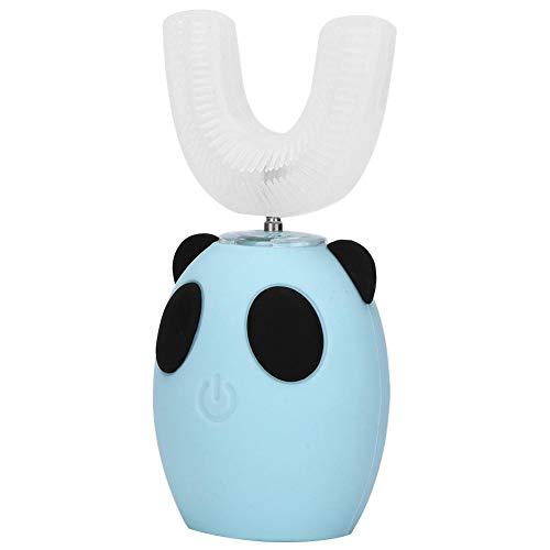 Kinder elektrische Zahnbürsten Niedliche U-Form Smart Sonic Zahnbürste Automatischer Timer Wiederaufladbare wasserdichte Zahnpflege Reiniger Werkzeug Geschenke für Kinder(Blau)