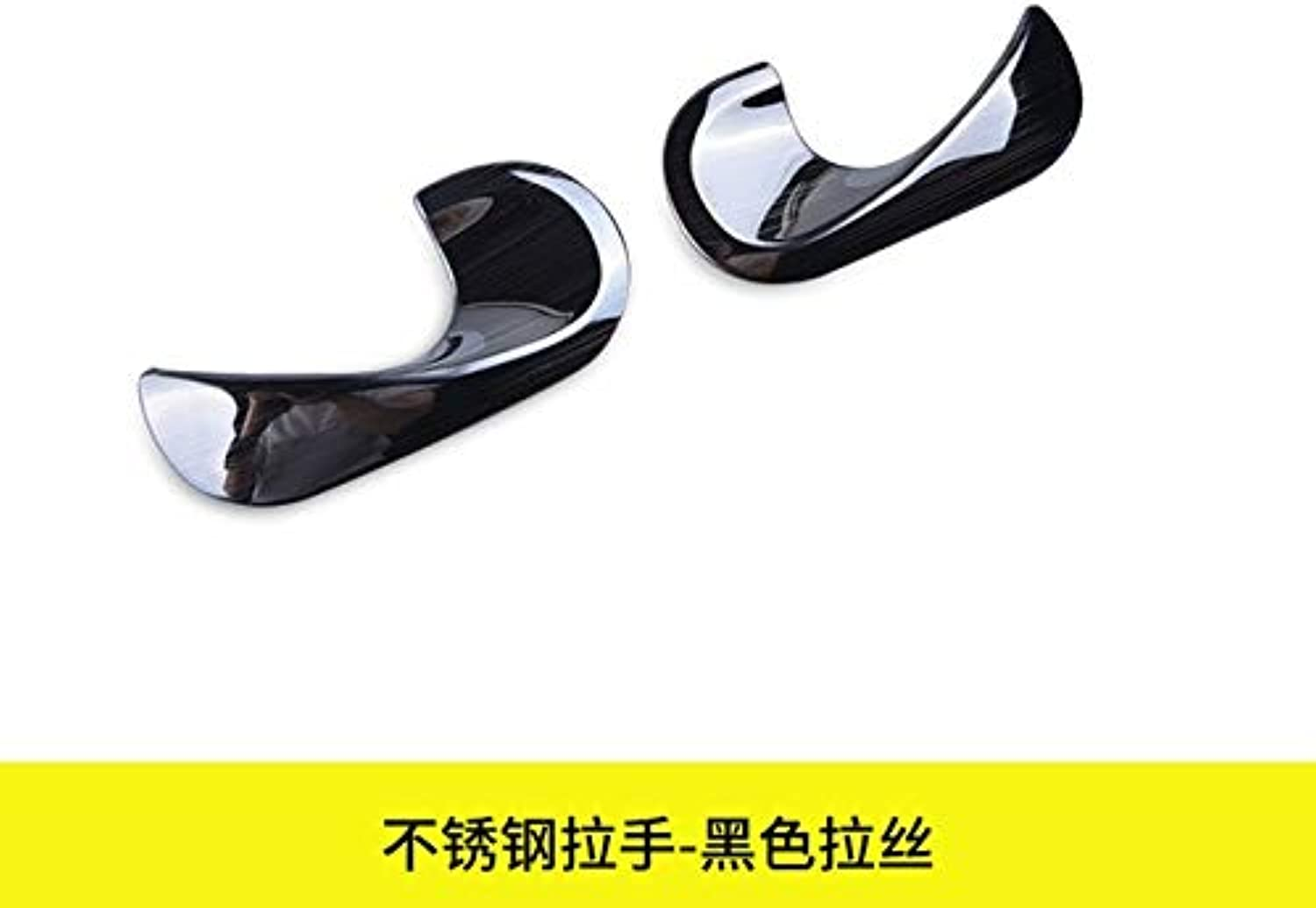 For Smart Fortwo Forfour Inner Handle Decorative Frame 304 Stainless Steel Car Styling Accessories Inner Door Bowl Car Stickers  (color Name  Black Door Bowl)