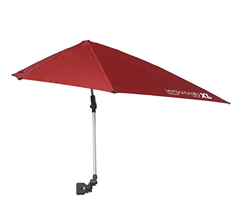 Sport-Brella Versa-Brella SPF 50+ Adjustable Umbrella with Universal Clamp, XL, FireBrick Red