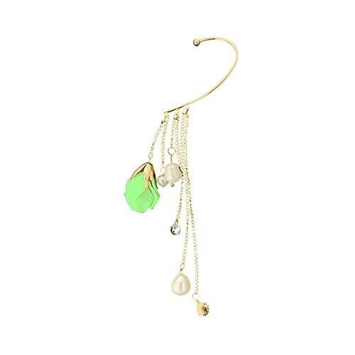 XIANRUI – uitstekend deel van de lange roos van de hanger van de persoonlijkheid, oorbellen, oorclips.