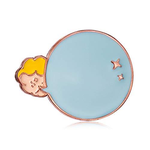 SHUTING2020 Broche Broche Pins for Les Femmes Bubble Cute Girl émail Broche Accessoires Vêtements for Femmes Cadeau Broche de Robe (Color : Blue)