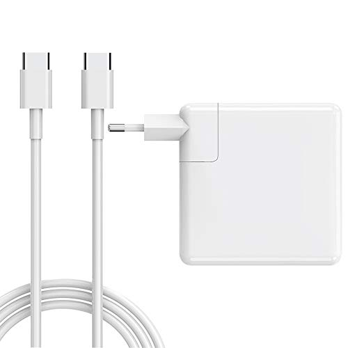 Cargador de 61W Compatible con Mac Book Pro Air, Cargador USB Tipo C de 61W para Mac Book 2016 2017 2018 2019 2020 Pro o Air y Otros teléfonos/Almohadillas/portátiles de Tipo C