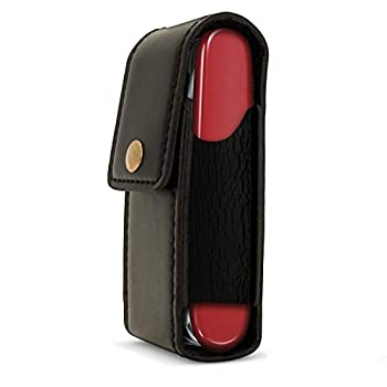 iGadgitz U4780 Noir Étui Housse Case Pochette Cuir Véritable Compatible avec Couteaux Suisse (Compatible avec Victorinox)