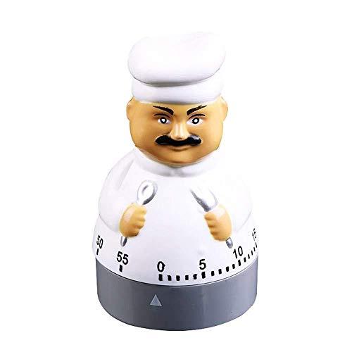 DZXYW Reloj Despertador Chef diseño Cocina electromecánico