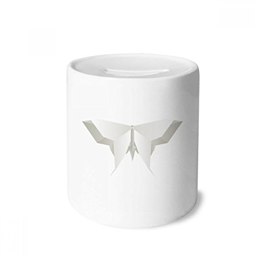 DIYthinker Origami Blanco Modelo Abstracto de la Mariposa Caja de Dinero de Las Cajas de ahorros de cerámica Adultos Moneda de la Caja para niños